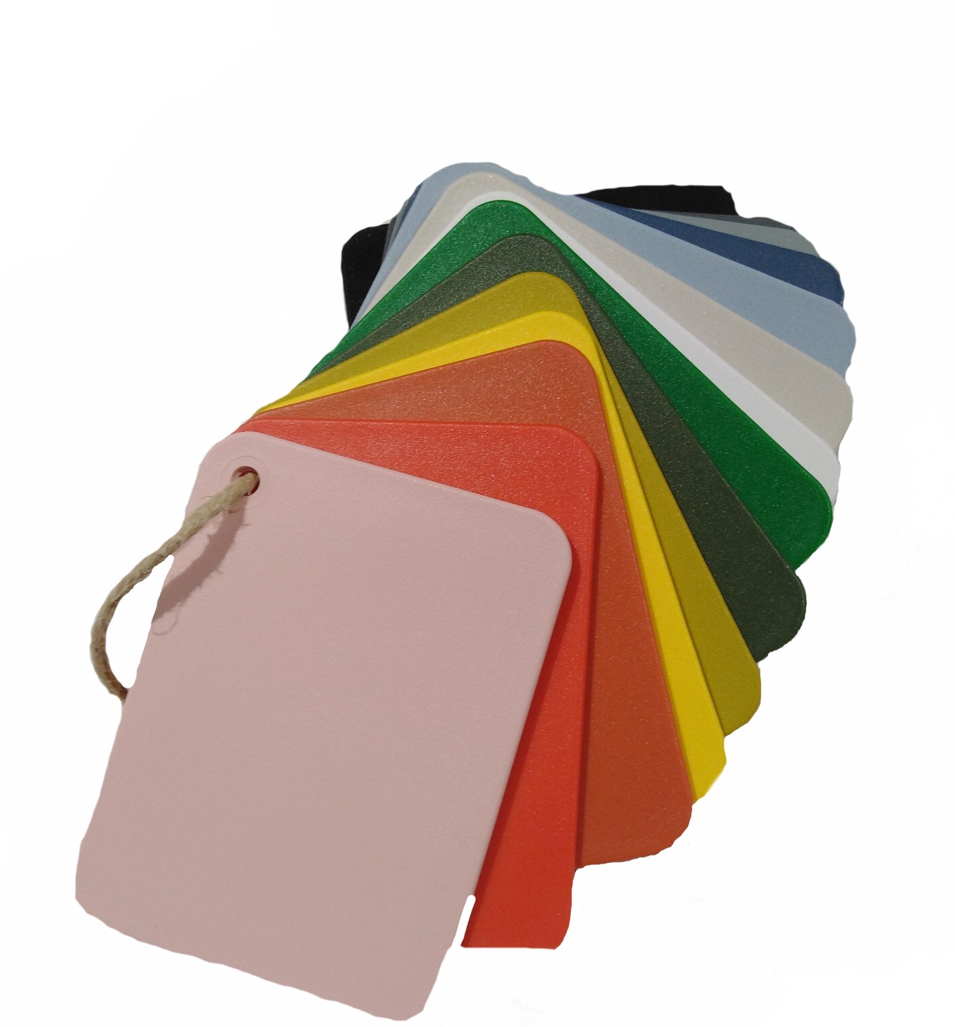 Échantillon en plastique pour les Eames Plastic chaises Couleurs 2019 Vitra