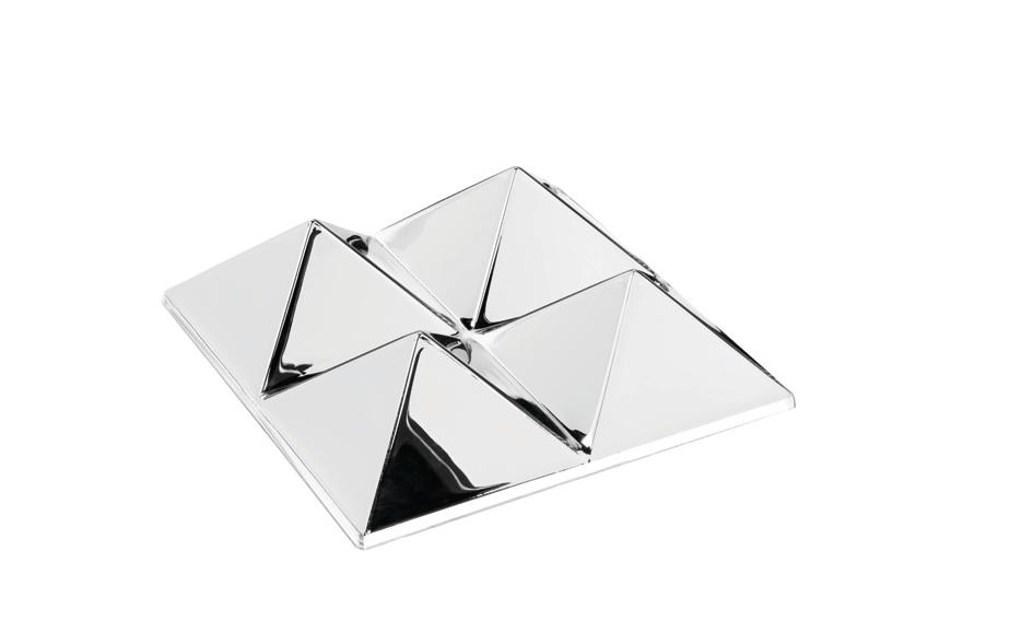 Mirror Sculptures Miroir 4 Pyramides Verpan