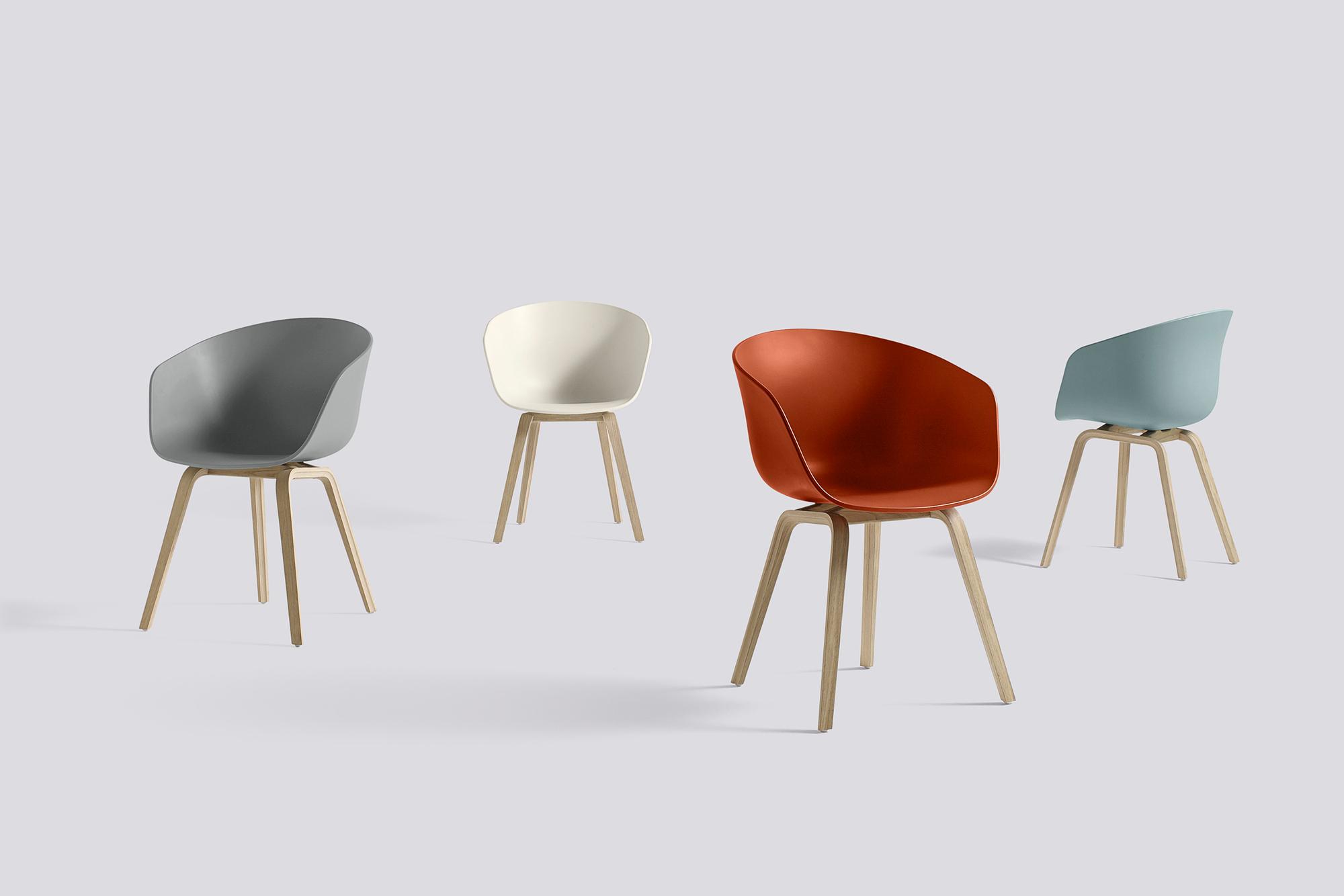 About A Chair AAC22 / AAC 22 chaise Hay Chêne savonné - vert