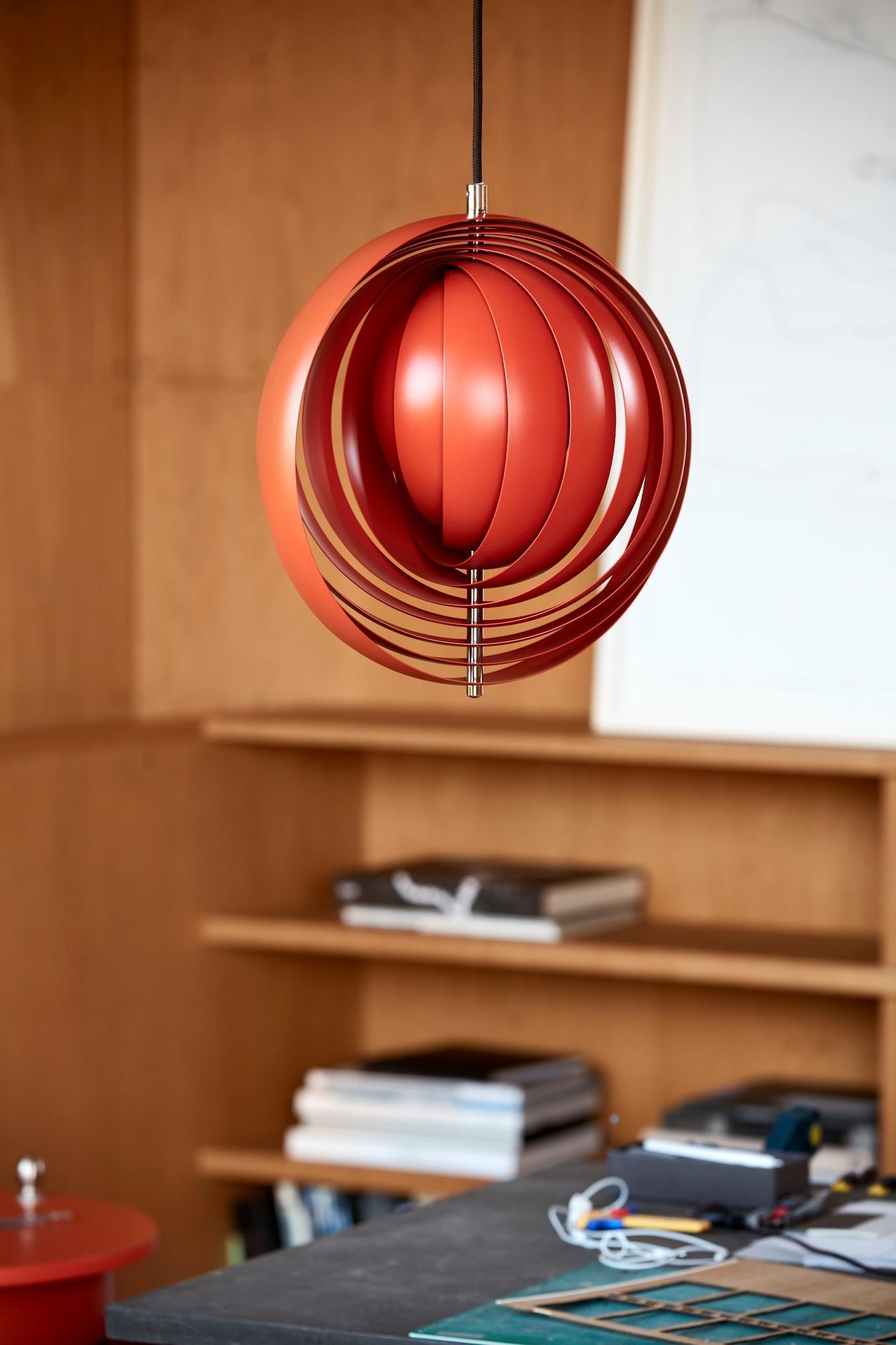 Moon Small Lampe à suspension Orange Verpan