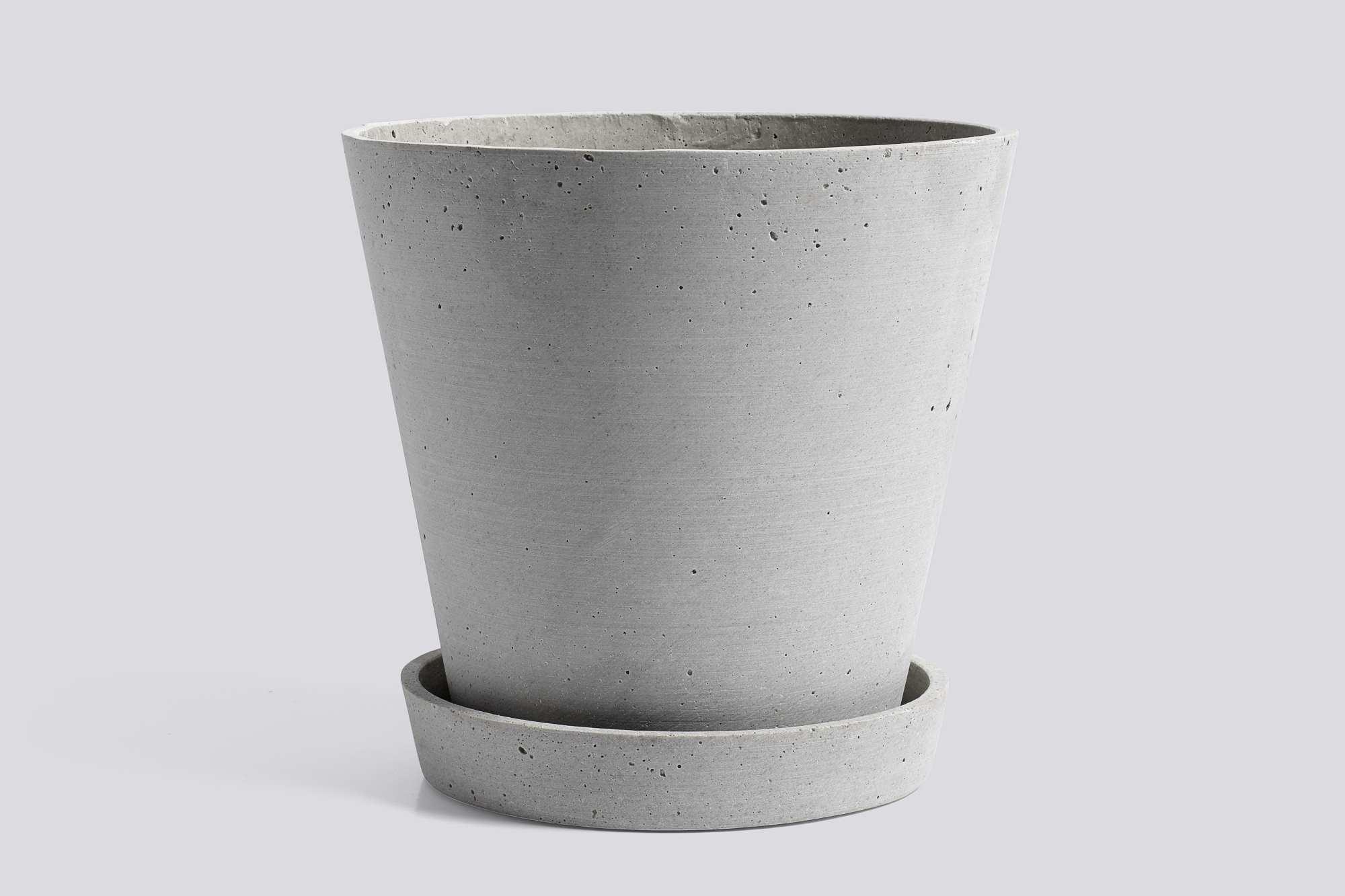 Flowerpot with Saucer XL Blumentopf mit Untersetzer Hay-Grau