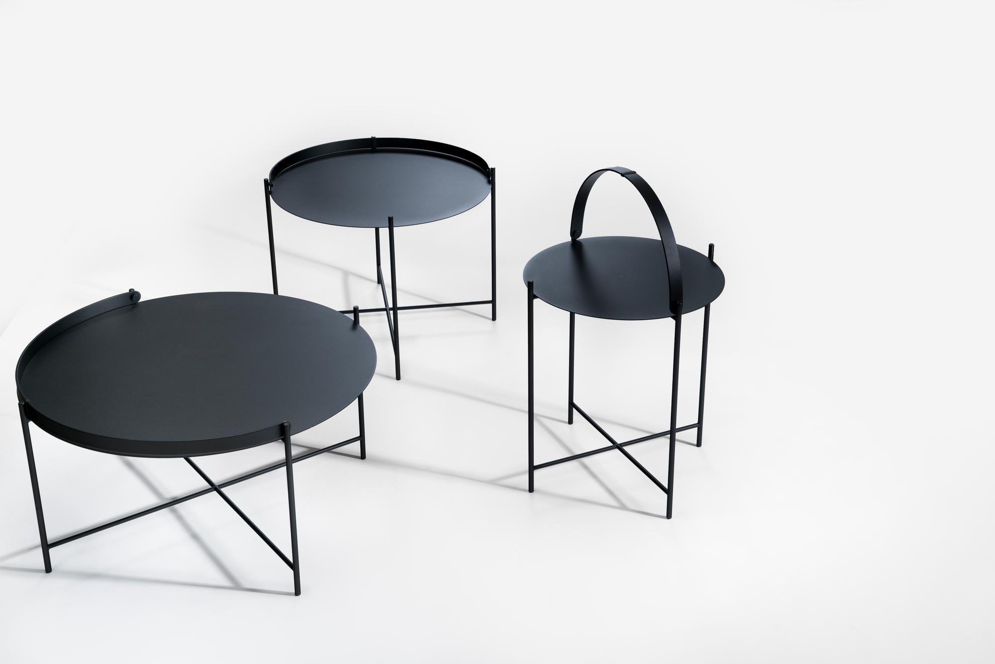Edge Tray Table table d'appoint petit noir Houe