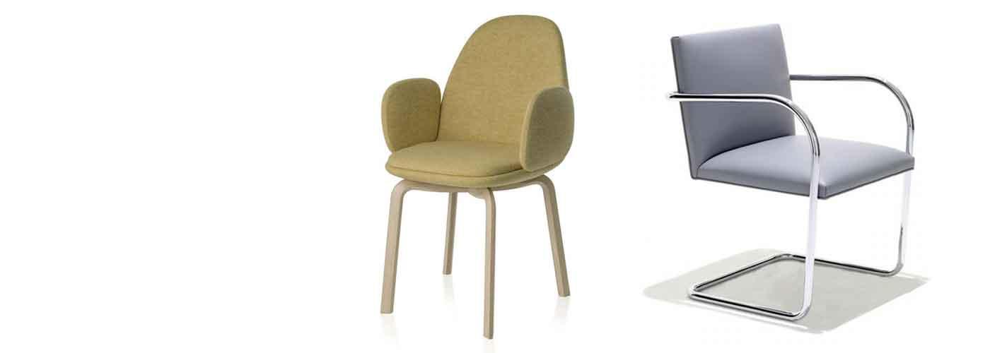 Chaises à assise rembourrée