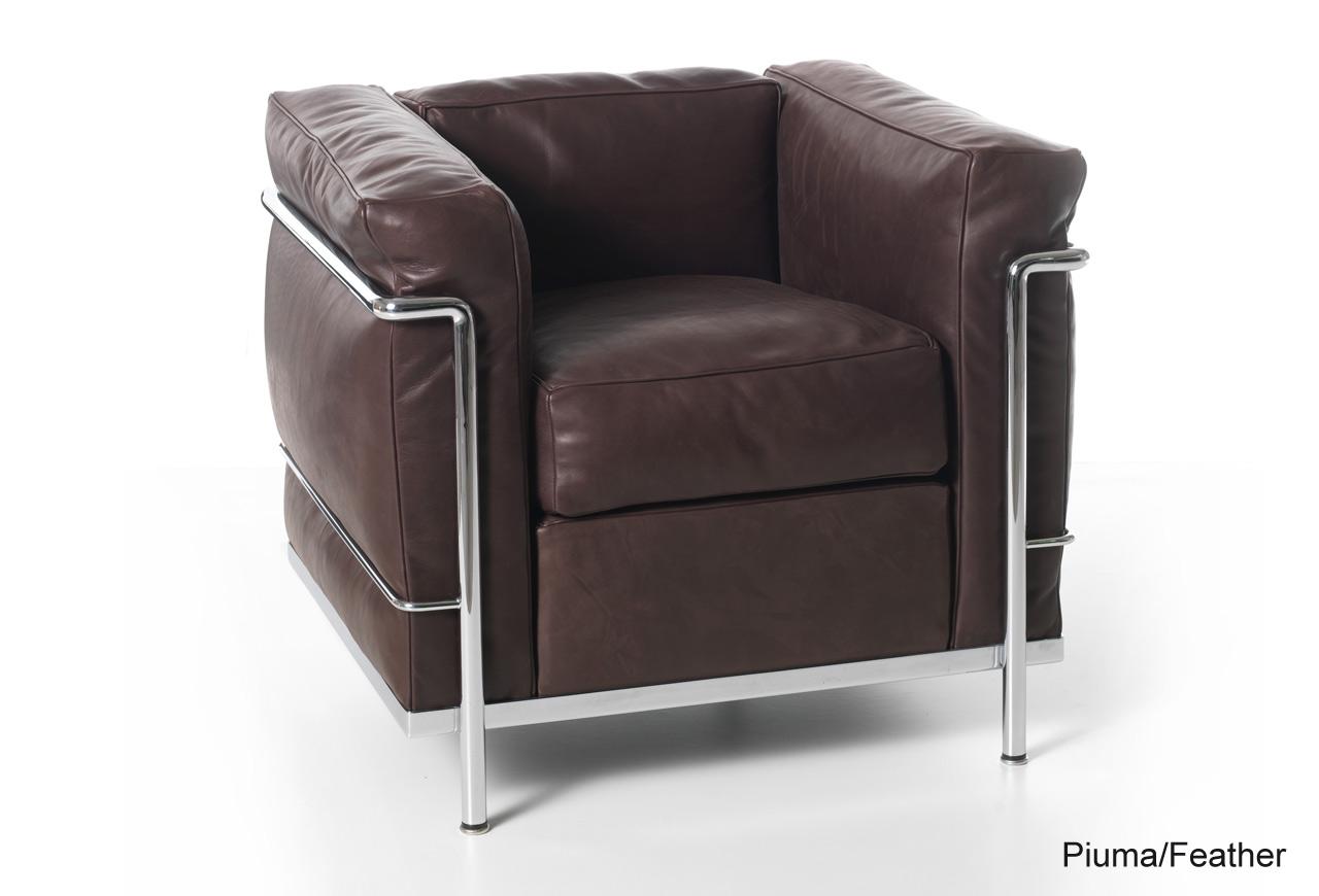LC2 fauteuil cadre chromé Cassina