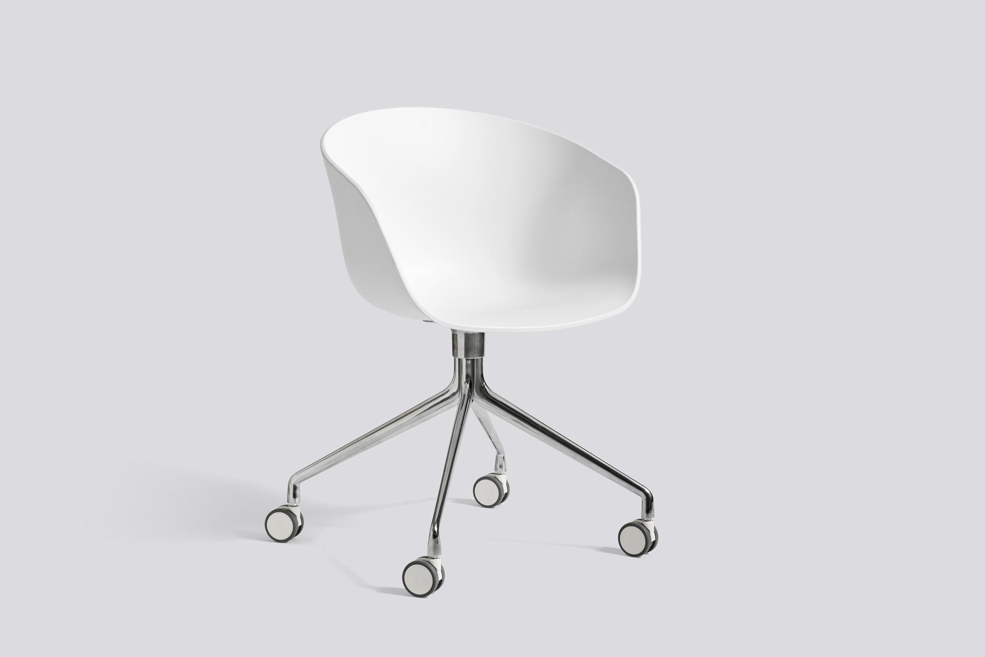 About A Chair AAC24 AAC 24 Chaise Noir Aluminium poli Hay   blanc   Aluminium poli   HAY AAC24 Weiss ALU POLIERT