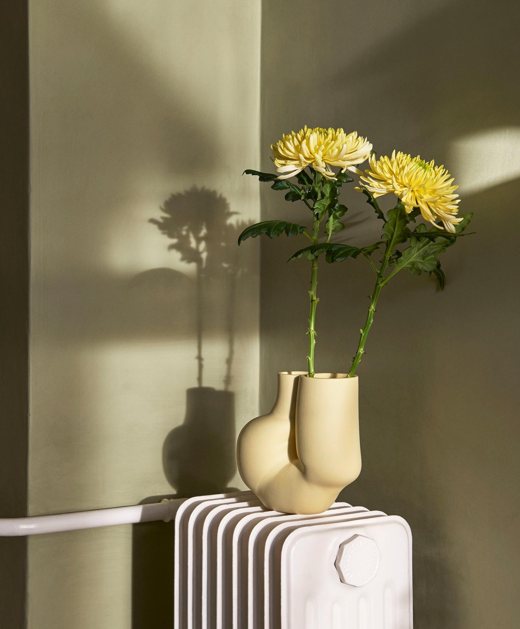 W&S Chubby Vase Hay Olive vert