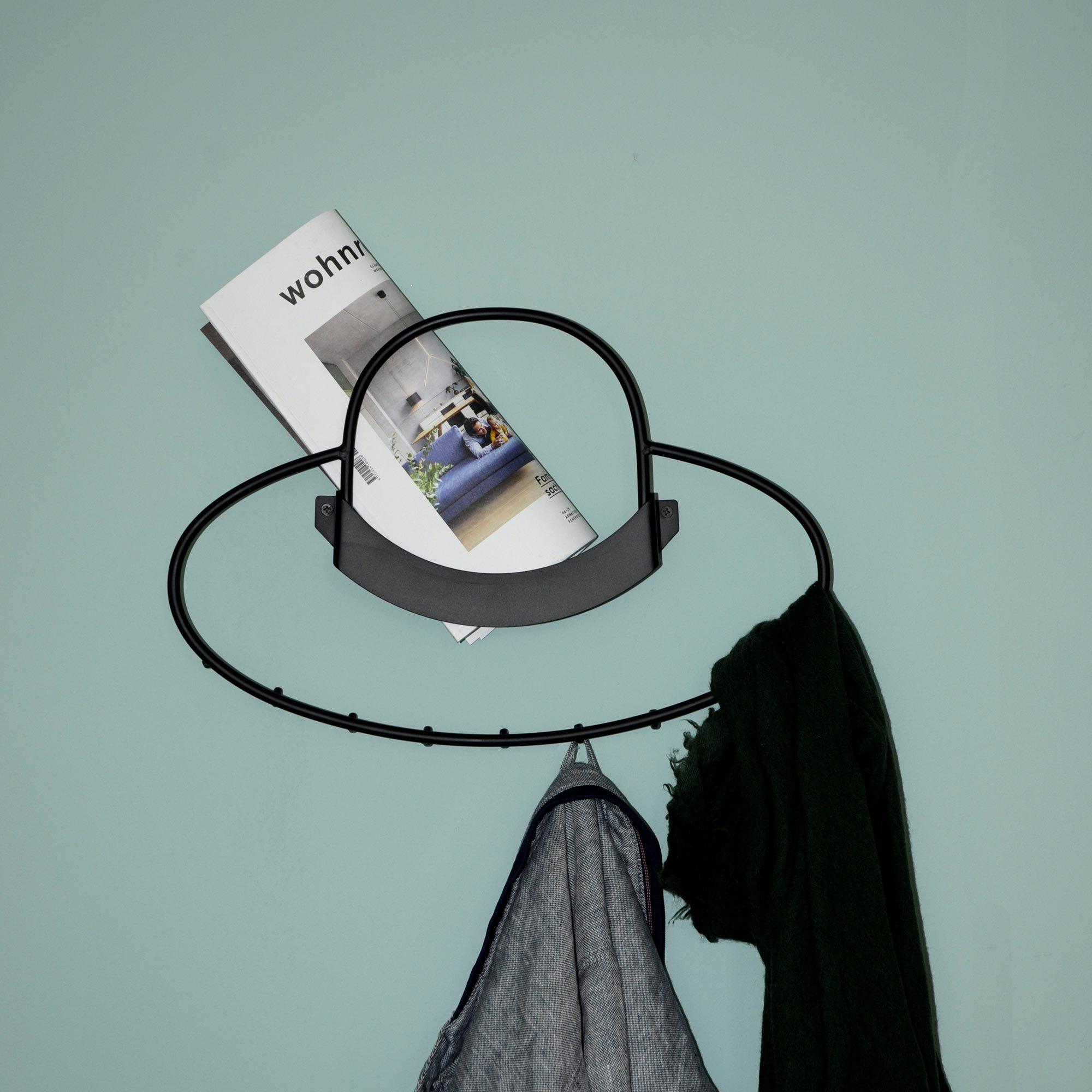Hat porte-manteau mural avec 9 crochets Mox