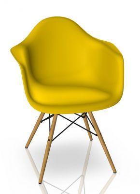 Eames Plastic Arm Chair DAW Chaise Vitra Érable jaunâtre - Sunlight