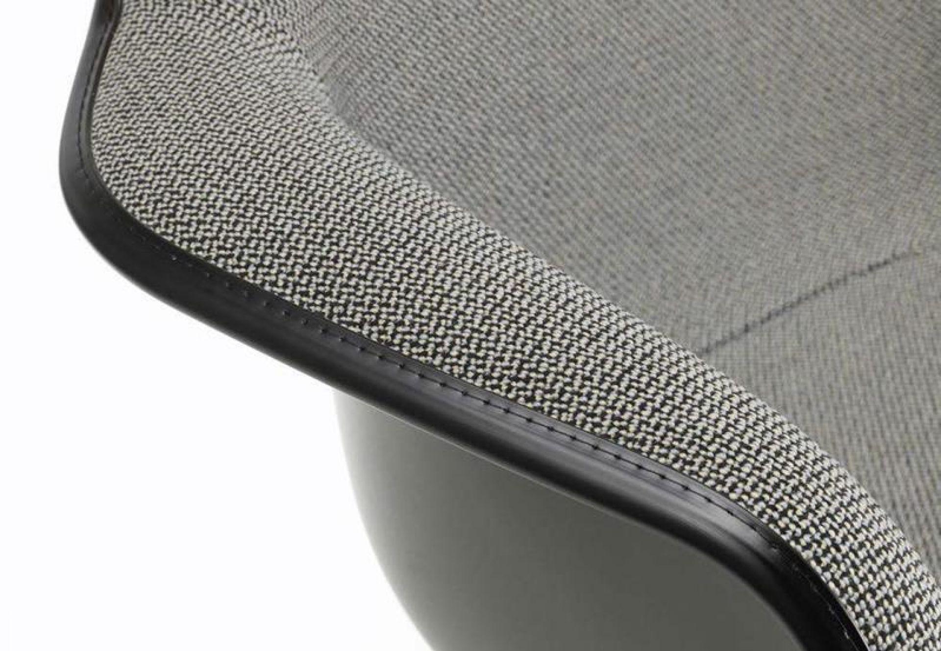 Eames Plastic Armchair RAR tissus d'ameublement complet IMM Introduction chaise à bascule Vitra