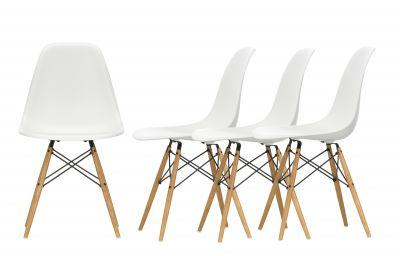 Action Eames Plastic Side Chair DSW Chair Chaise Set de 4 Vitra