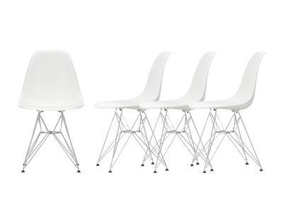 Action Eames Plastic Side Chair DSR Chair Chaise Set de 4 Vitra