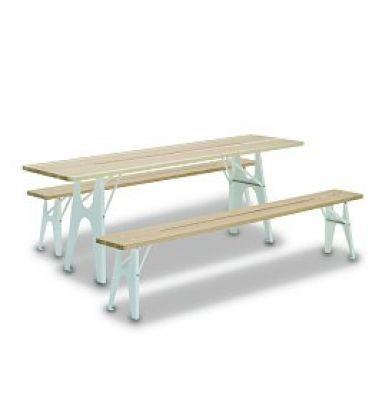 Abri contre la pluie pour la table ou un banc Ludwig Richard Lampert