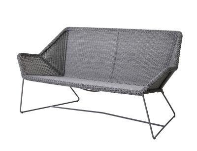 Breeze salon extérieur canapé gris clair Cane-Line