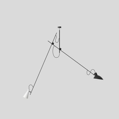 VV Cinquanta Suspension Structure Noir Réflecteurs Noir et Blanc Astep