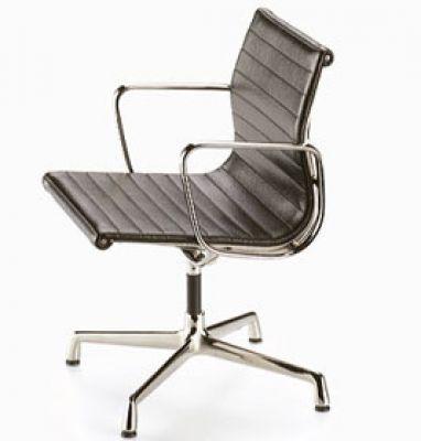 Aluminium Chair Cuir [1958] Miniatur Vitra
