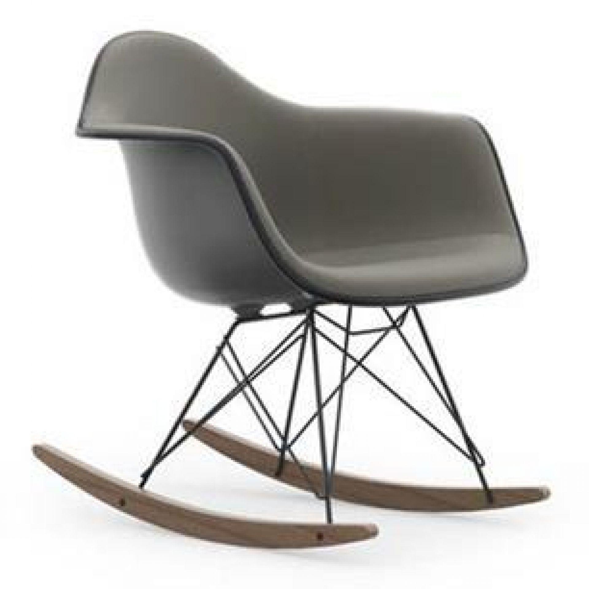 Eames Plastic Arm Chaise Chaise à bascule RAR entièrement tapissé Vitra