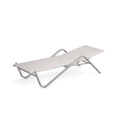 Holly Sonnenliege 4-er Set Emu aluminium-weiß