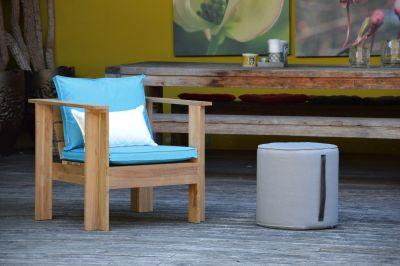 Batten Coussin pour Fauteuil Lounge Turquoise Jan Kurtz