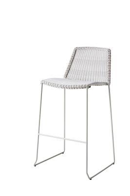 Breeze gris blanc extérieur Tabouret de bar Cane-line