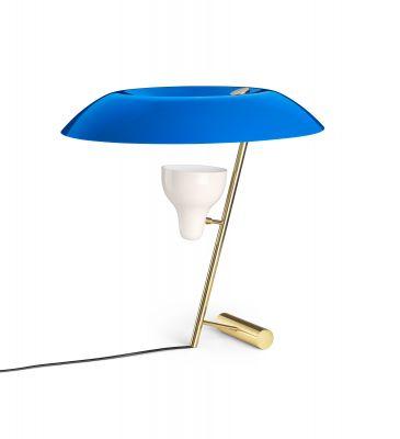 Model 548 lampe de table laiton poli avec diffuseur Azure Astep