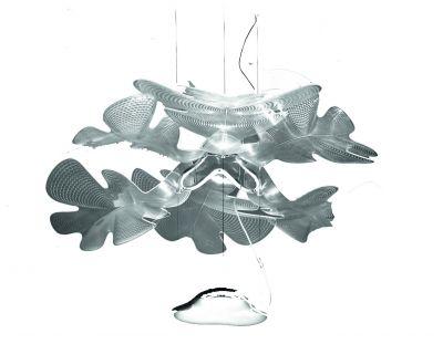 Chlorophilie suspension structure chrome diffuseur transparent Artemide