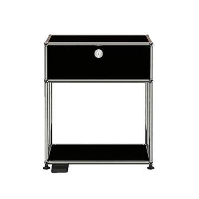 E table de chevetlumière dimmable noir graphite USM Haller - QUICK SHIP