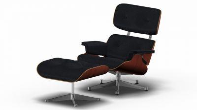 Eames Lounge Chair & Ottoman Armchair Premium nero / noyer noir pigmenté / poli Vitra OFFRE SPECIALE