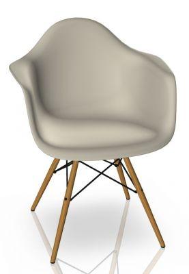 Eames Plastic Arm Chair DAW Chaise Vitra Frêne - Caillou