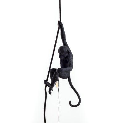 Monkey Lamp Black suspension Seletti