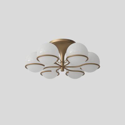 Model 2042/6 Lampe Plafond Monture Champagne