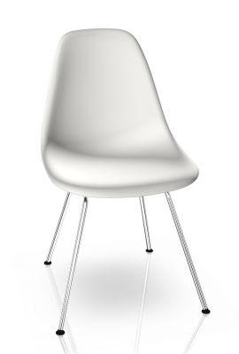 Eames Plastic Side Chair DSX Chaise Vitra Chromé - Blanc