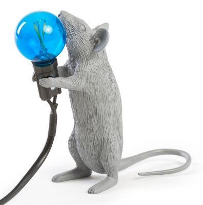 Mouse Lamp table lampe gris Seletti
