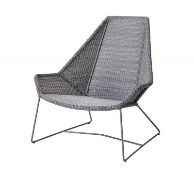 Breeze Chaise d'extérieur highback gris clair Cane-Line