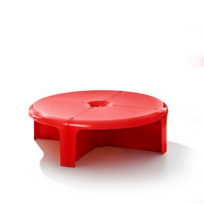 4/4 Table basse/étagère modulaire Rouge B-Line