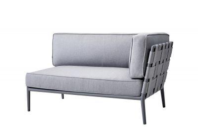Conic AirTouch Outdoor 2 places canapé modulairegauche gris clair Cane-Line