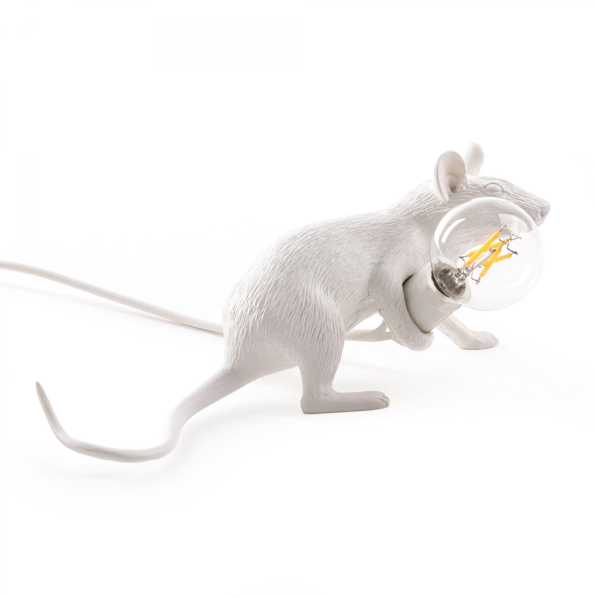 Mouse Lamp table lampe blanc avec USB Seletti