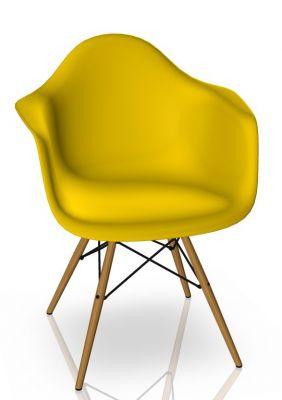 Eames Plastic Arm Chair DAW Chaise Vitra Frêne - Sunlight