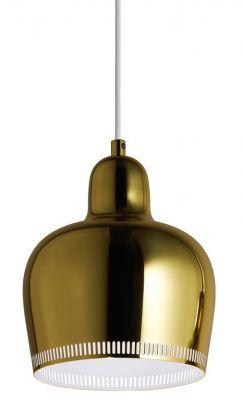 A330S Golden Bell Pendant light Lampe de suspendue Artek Laiton-Blanc