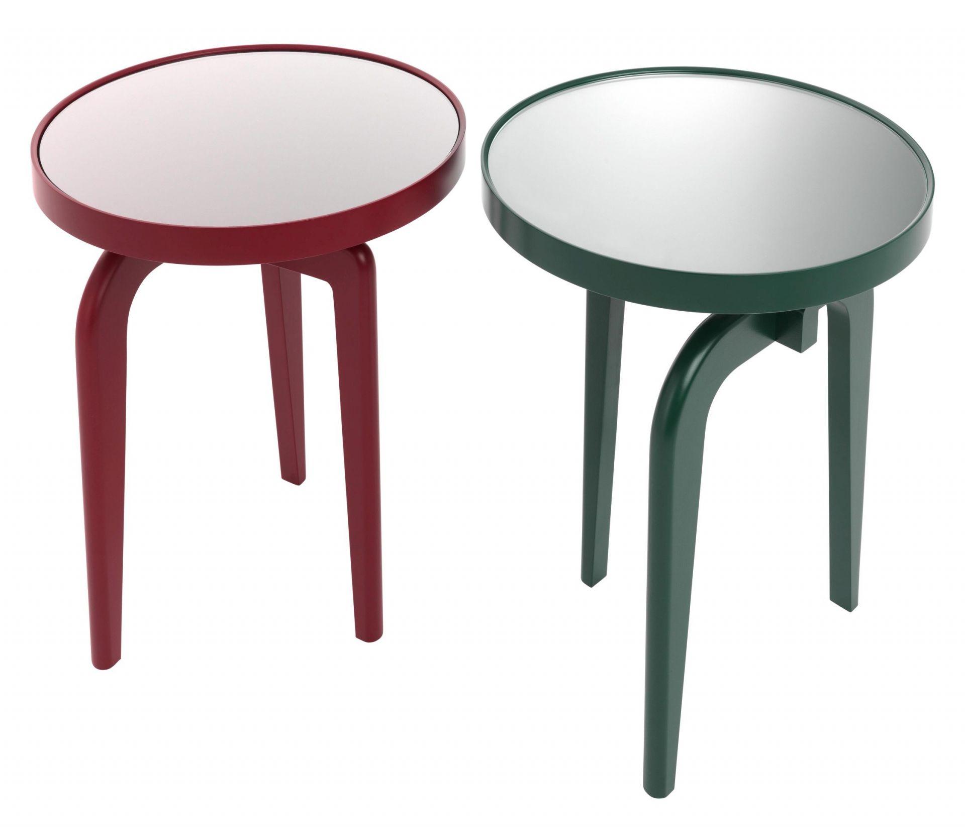 Table d'appoint Fourmi, inserts en verre transparent Schönbuch