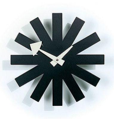Asterisk Clock Horloge Murale - noir Vitra