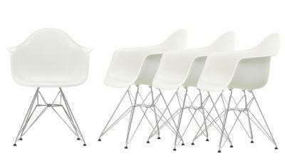 Action Eames Plastic Arm Chair DAR Chair Chaise Set de 4 Vitra